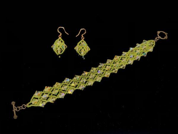 Bracelet Swarovski Bicone Lime