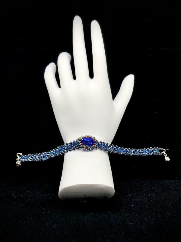 Bracelet Swarovski Capri Blue With Rhinestone
