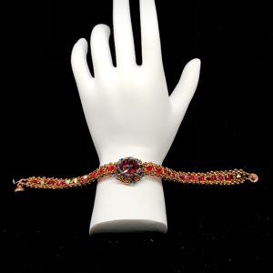 Bracelet Swarovski Light Siam With Rhinestone