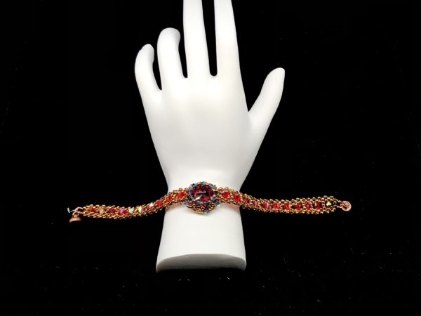 Bracelet Swarovski Light Siam With Rhinestone