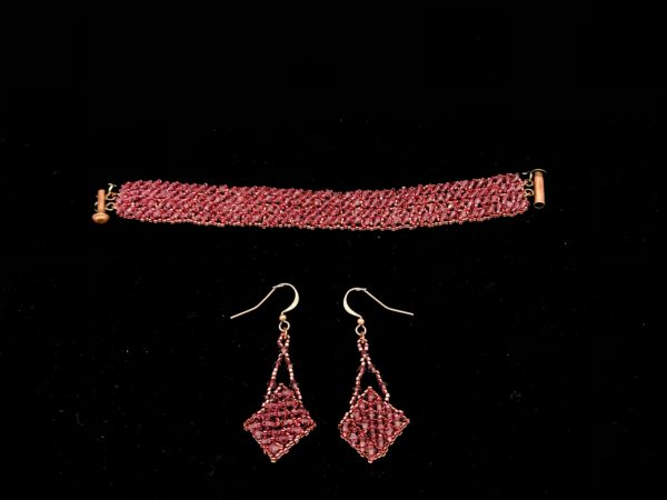 Bracelet and Earring Swarovski Fuchsia