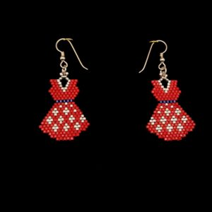 Brick Stitch Dress Earring