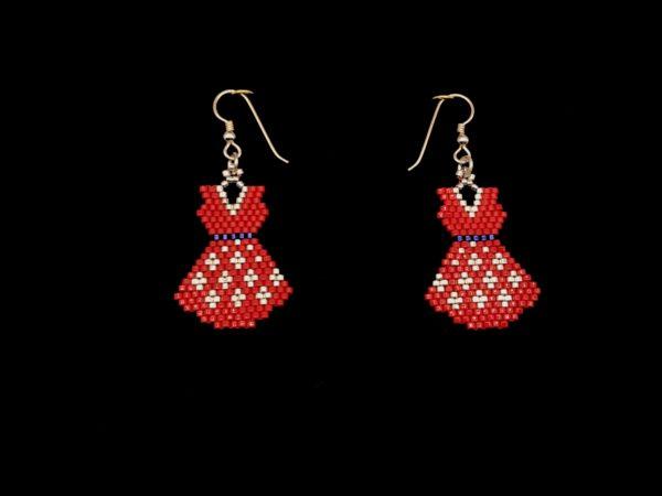 Brick Stitch Dress Earring