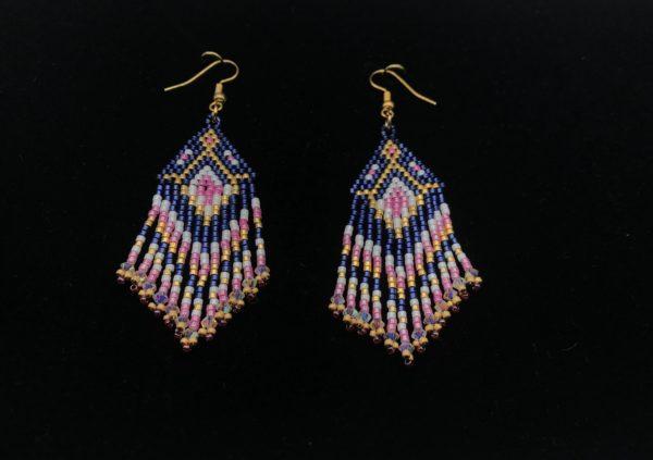 Brick stitch Diamond fringe