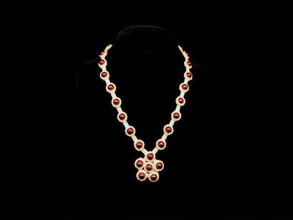 Necklace With Flower Beads