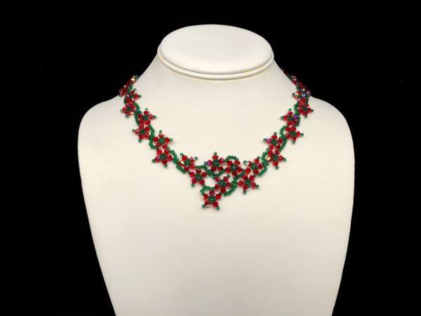 Necklace With Swarovski Light Siam