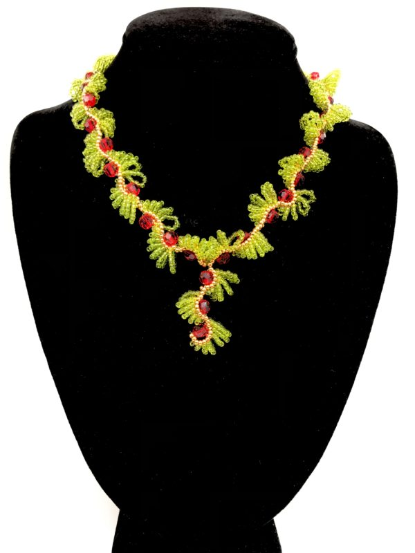 Necklace With Color Transparent Lime