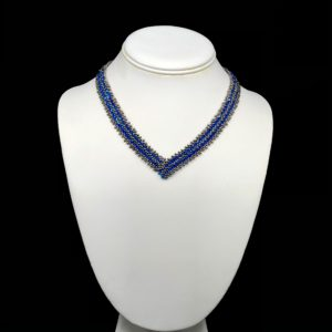Necklace With Swarovski Capri Blue AB