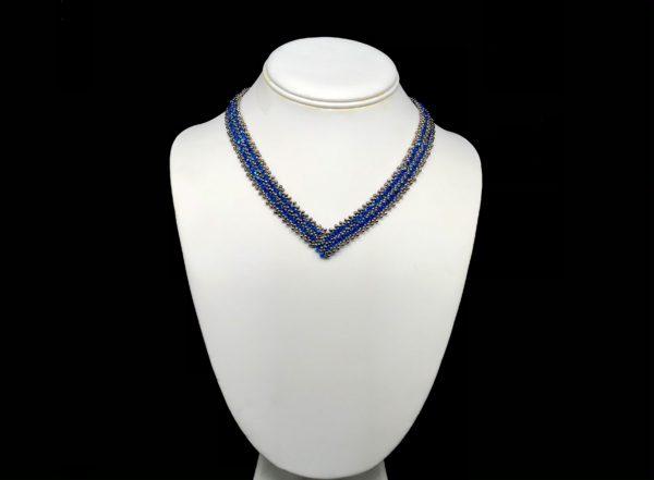 Necklace With Swarovski Capri Blue AB