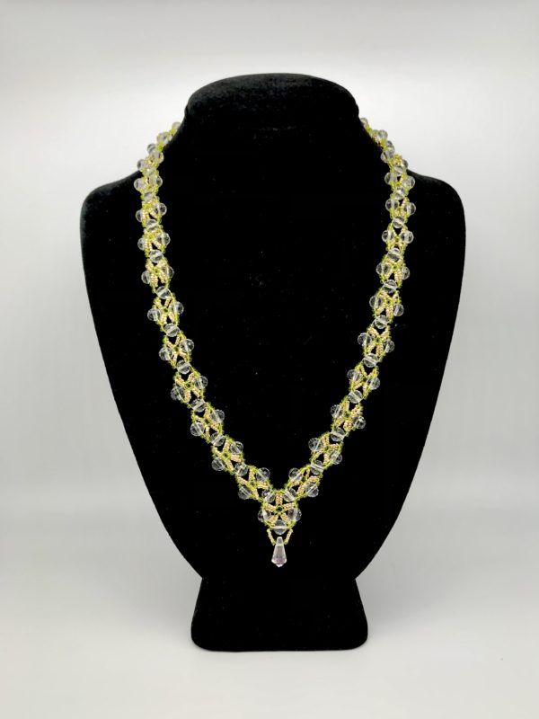 Necklace With Swarovski Round Crystal Color